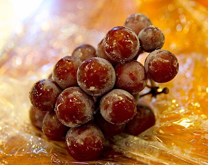 凍らせた葡萄