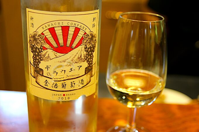 河内ワインの白ワインデラウェア