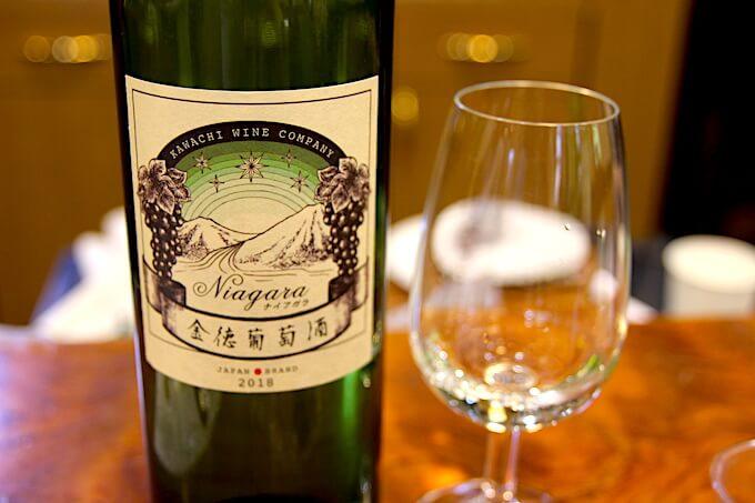 河内ワインの白ワインナイアガラ