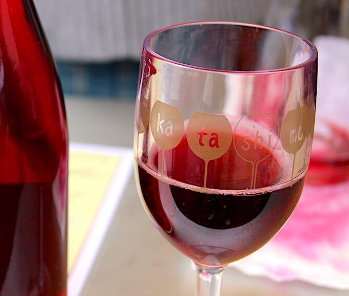 カタシモワイナリーのグラス