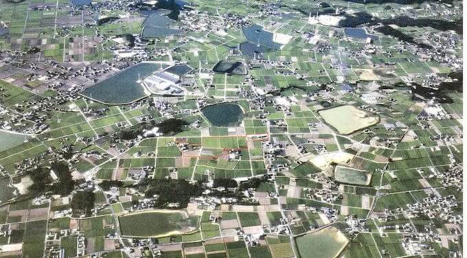 兵庫県稲美町の航空写真