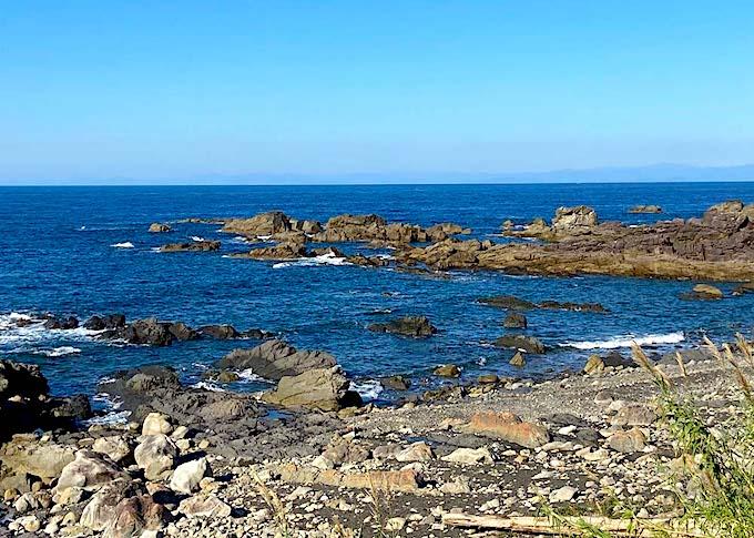 羽根岬の海