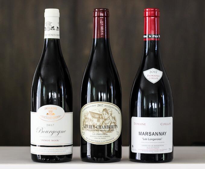 ブルゴーニュのワインボトル比較