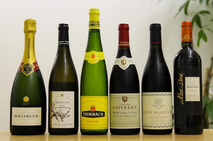 6本のフランスワイン