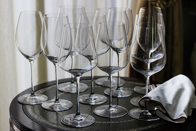 ワイングラスの写真